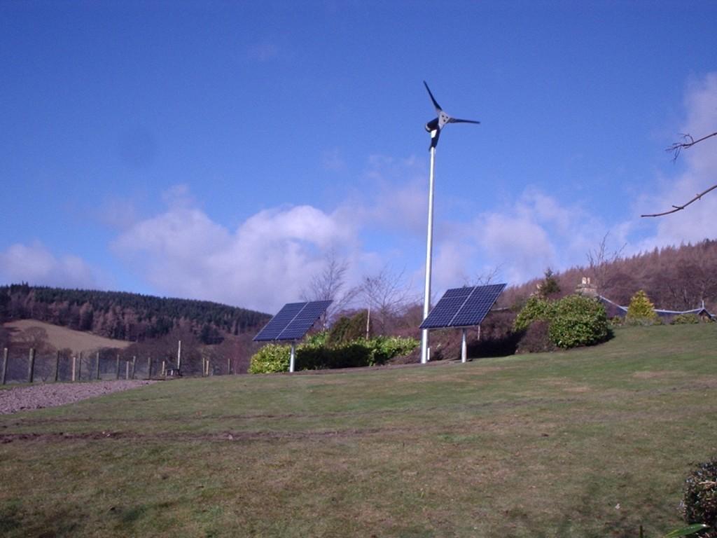 2.5kW Wind Turbine, 2kW PV System